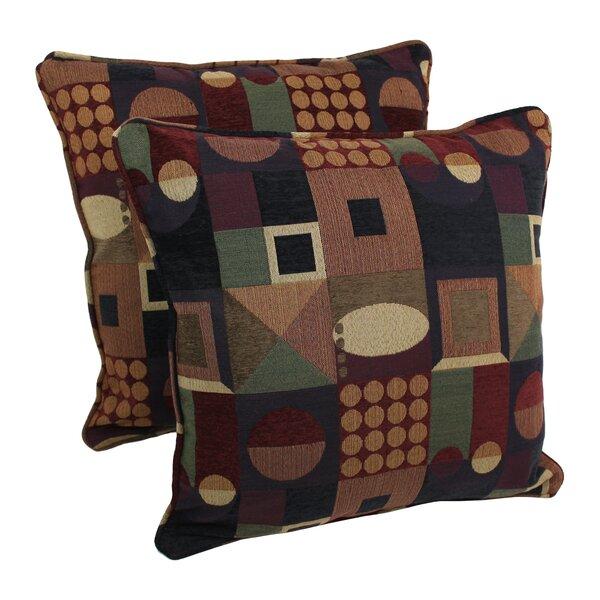 Jacquard Indoor Chenille Floor Pillow by Blazing Needles