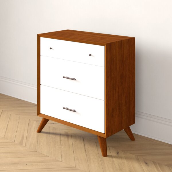 Parocela Two-Tone 3 Drawer Chest by Foundstone