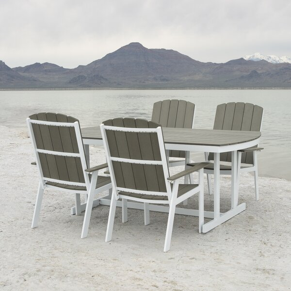 Zygi Traditional Outdoor 5 Piece Dining Set by Beachcrest Home