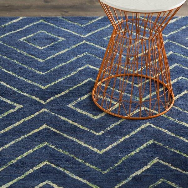 Spartacus Hand-Woven Blue Area Rug by Corrigan Studio