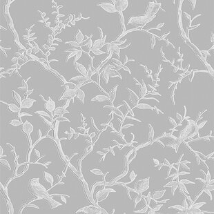 Grey Floral Wallpaper