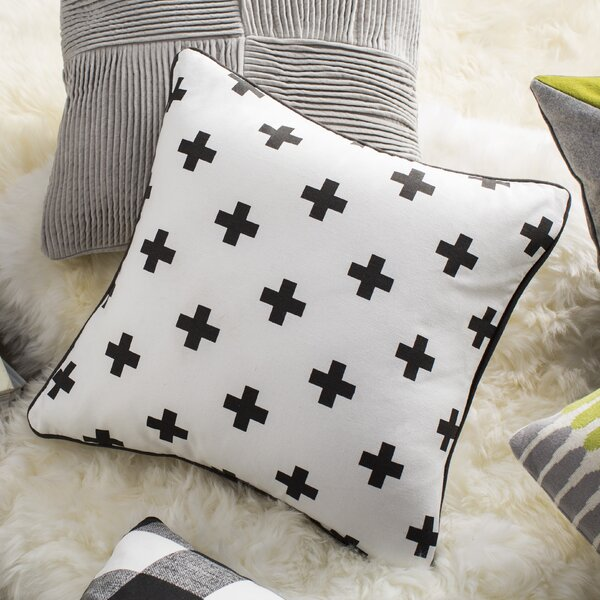 Antonia Cross Cotton Throw Pillow Cover by Langley Street