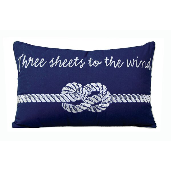 Clermont 3 Sheets to the Wind Outdoor Sunbrella Lumbar pillow by Longshore Tides