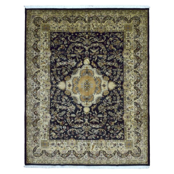 One-of-a-Kind McGraw Hand-Woven Wool Navy/Beige Area Rug by Isabelline
