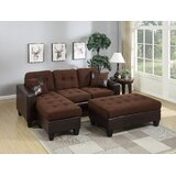 Swain Left Hand Facing Sectional with Ottoman by A&J Homes Studio