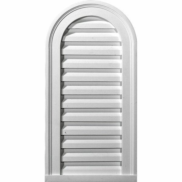 Cathedral 28H x 16W Gable Vent Louver by Ekena Millwork