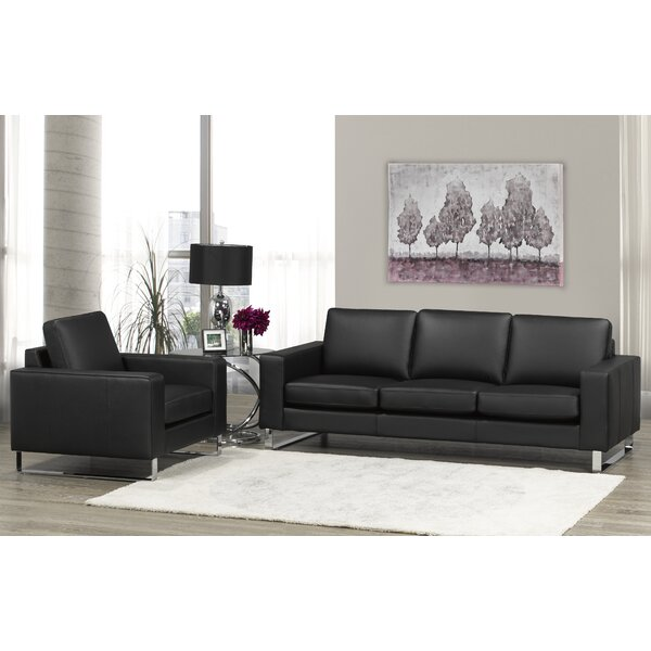 Keown 2 Piece Leather Living Room Set by Orren Ellis