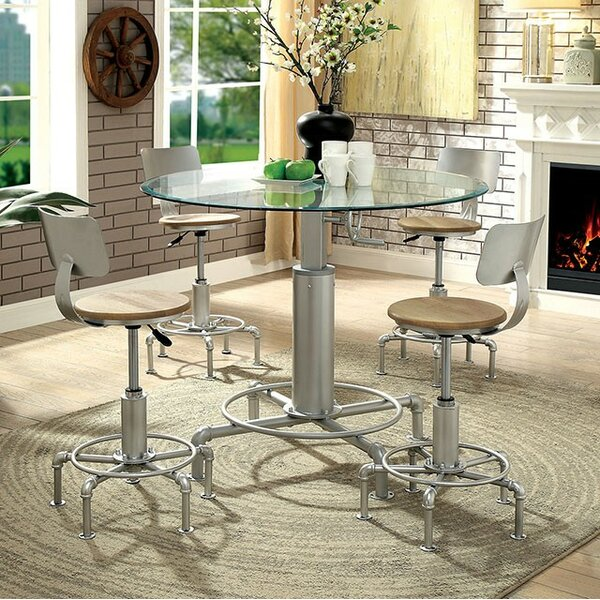 Emmaline 5 Piece Dining Table Set by 17 Stories