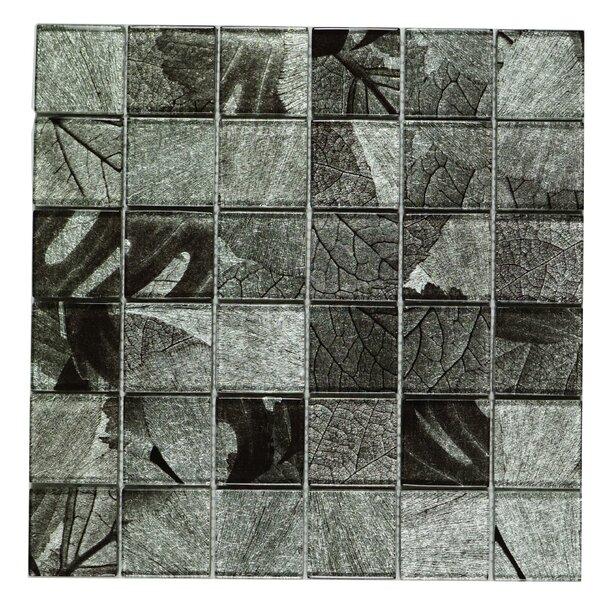 Season Series Winter 2 x 2 Glass Tile in Gray by Multile