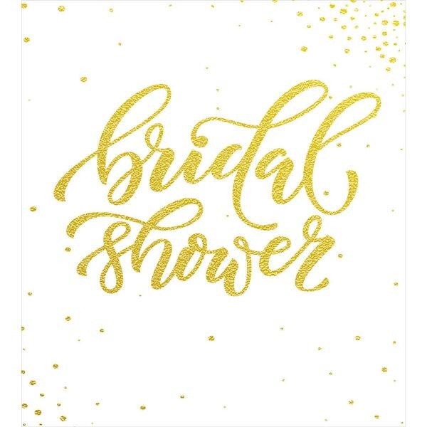 Bridal Shower Decorations Duvet Set by Ambesonne