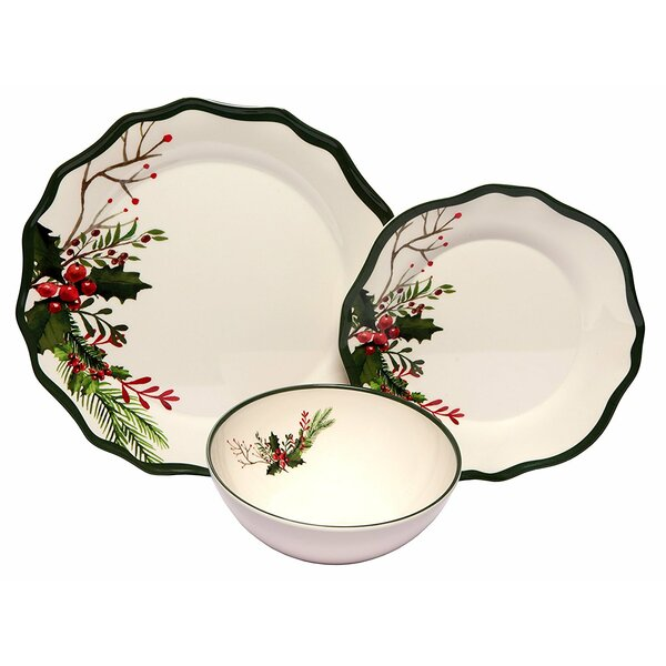 Winter Bouquet Melamine 12 Piece Dinnerware Set by The Holiday Aisle