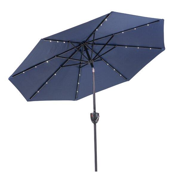 Sun-Ray Bluetooth Solar Lighted Round 9' Market Umbrella by J&J Global LLC
