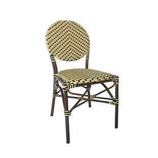 Birge Cafe Stacking Patio Dining Chair with Cushion by Wrought Studio