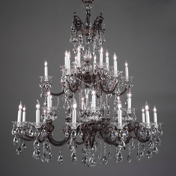 Via Lombardi 30 - Light Candle Style Classic / Traditional Chandelier By Classic Lighting