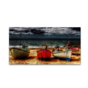 Resting Boats by Erik Brede Photographic Print on Wrapped Canvas by Trademark Fine Art