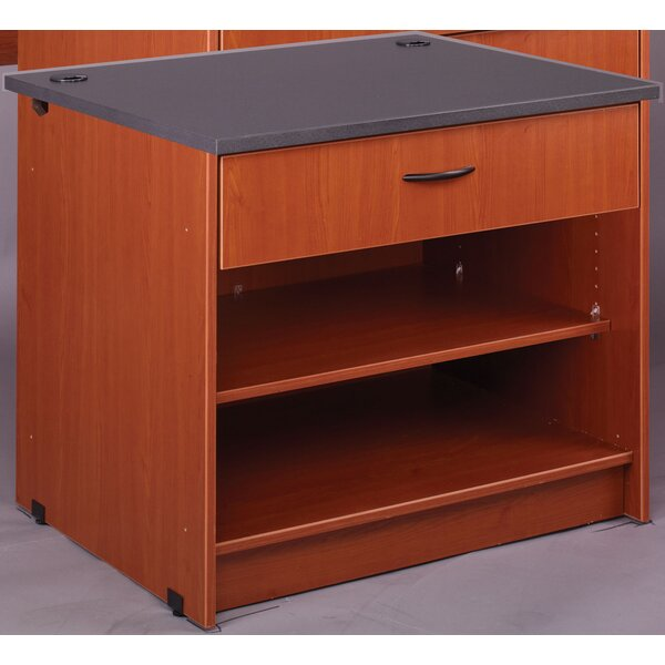Library 3 Compartment Shelving Unit by Stevens ID Systems