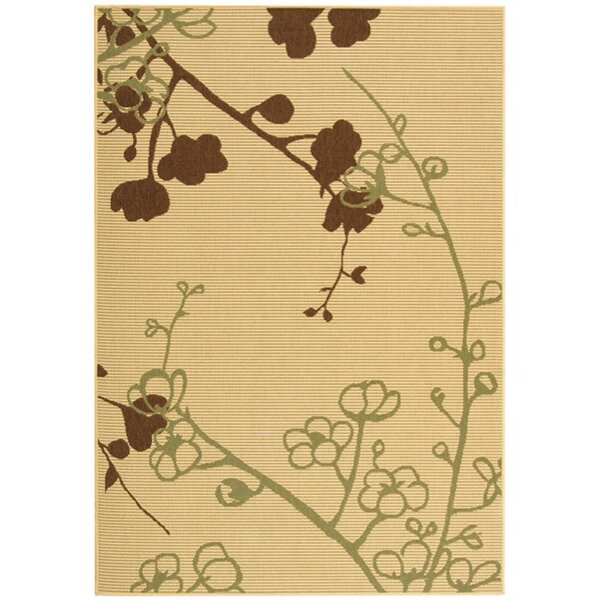 Wysocki Natural/Olive/Brown Indoor/Outdoor Area Rug by August Grove