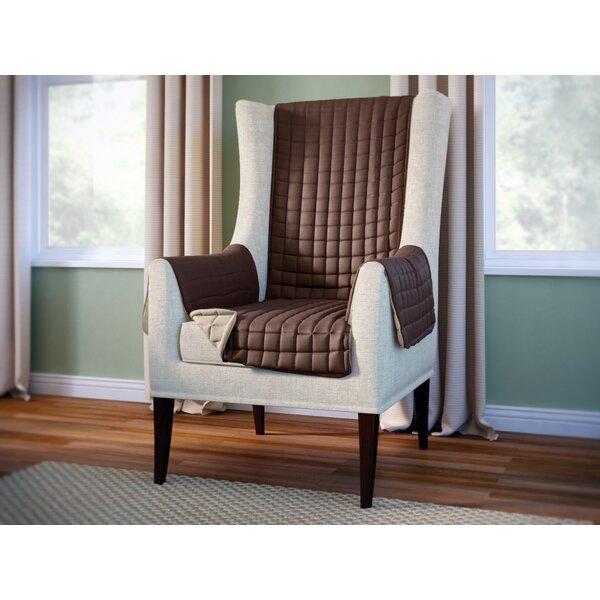 Compare Price Wayfair Basics Box Cushion Wingback Slipcover