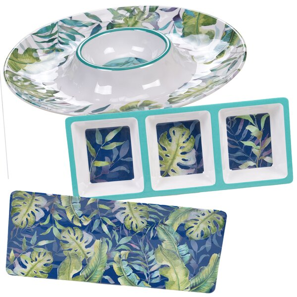 Edison 3 Piece Melamine Divided Serving Dish Set by Bay Isle Home