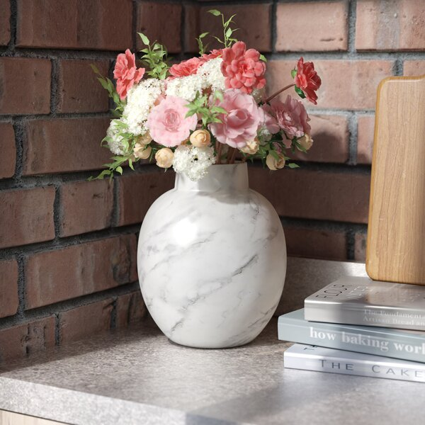 Handcrafted White Table Vase by Mint Pantry