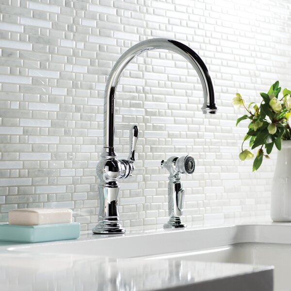 Artifacts 2-Hole Kitchen Faucet with Swing Spout and BerrySoft™, MasterClean™, and ProMotion™ by Kohler