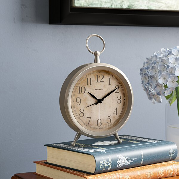 Metal Table Clock By Winston Porter.