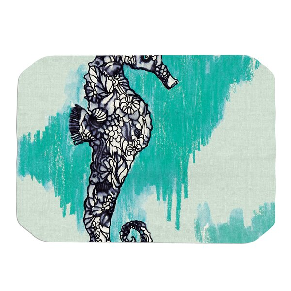 Sonal Nathwani Seahorse Placemat by East Urban Home
