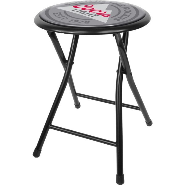 Cushioned Folding Stool by Miller Coors