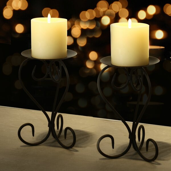 Iron Candlestick (Set of 2) by Alcott Hill