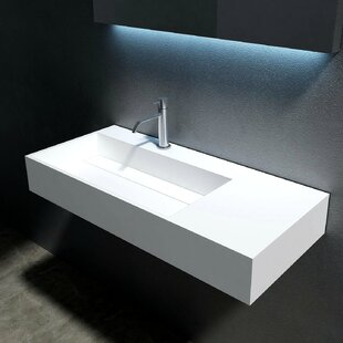 Coupon Juniper Stone 35 Wall Mount Bathroom Sink By CastelloUSA