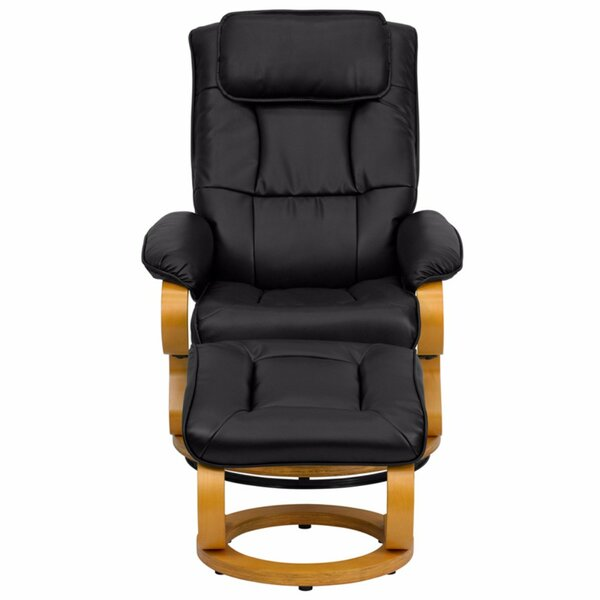 Lakehurst Manual Swivel Recliner With Ottoman [Red Barrel Studio]