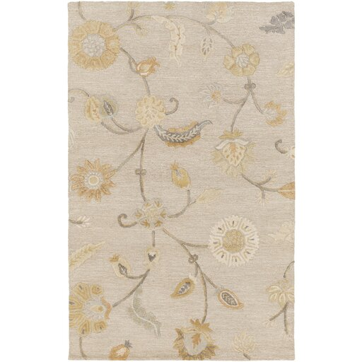 Lepore Light Gray/Gold Area Rug by One Allium Way