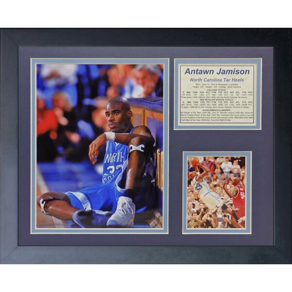 Antawn Jamison - North Carolina Framed Memorabilia by Legends Never Die