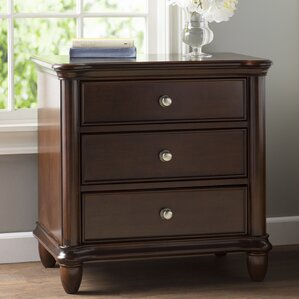 Bancroft Woods 3 Drawer Nightstand by Alcott Hill