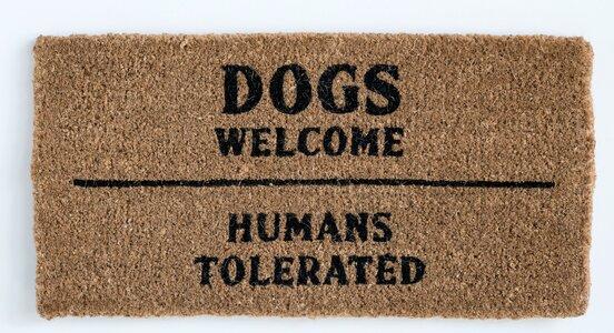 Lewisburg Dogs Welcome Humans Tolerated Coir Door Mat