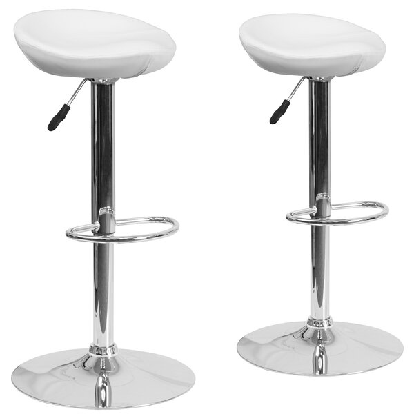 Nutting Adjustable Height Swivel Bar Stool (Set of 2) by Orren Ellis