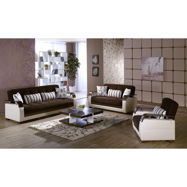 Natural Configurable Living Room Set by Orren Ellis