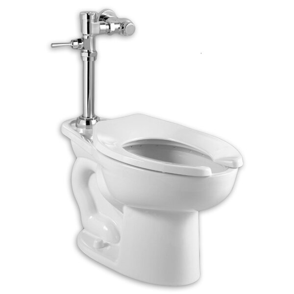 Madera Manual System Flush Valve 1.6 GPF Elongated One-Piece Toilet by American Standard