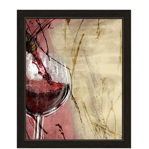'Artistic Pouring Red Wine' Framed Painting Print by Fleur De Lis Living