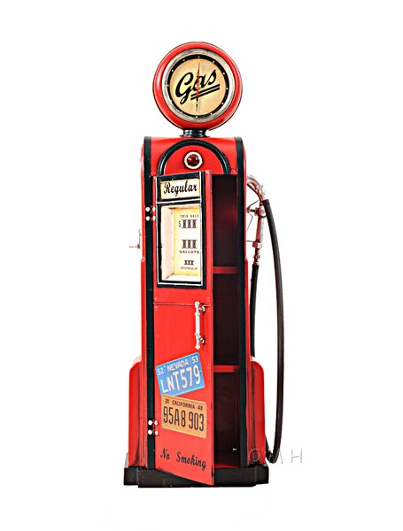 Decorative Gas Pump with Clock 1:4 by Old Modern Handicrafts