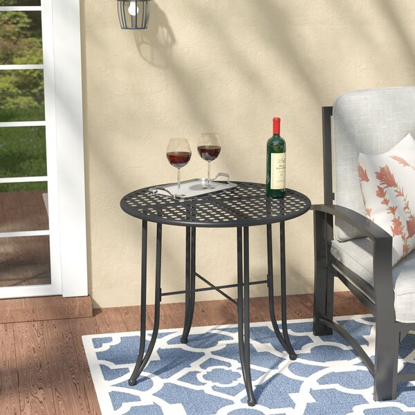 Dalmatia Metal Bistro Table by Alcott Hill