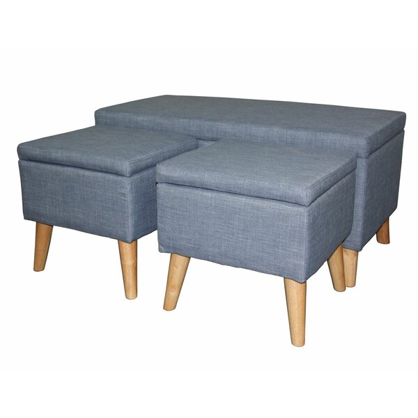 Kerri 3 Piece Upholstered Storage Bench by Latitude Run