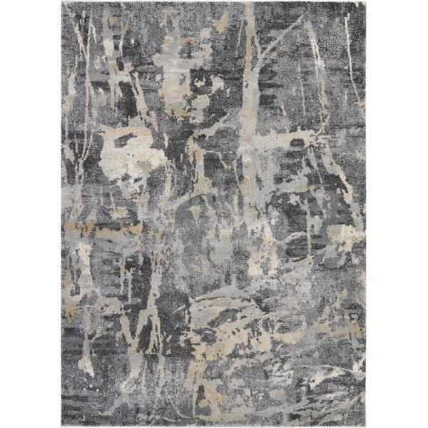 Bellock Abstract Gray/Beige Area Rug by Williston Forge