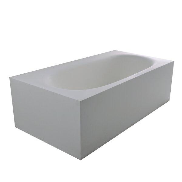 True Solid Surface Zenith 70.88 x 36.63 Soaking Bathtub by dCOR design