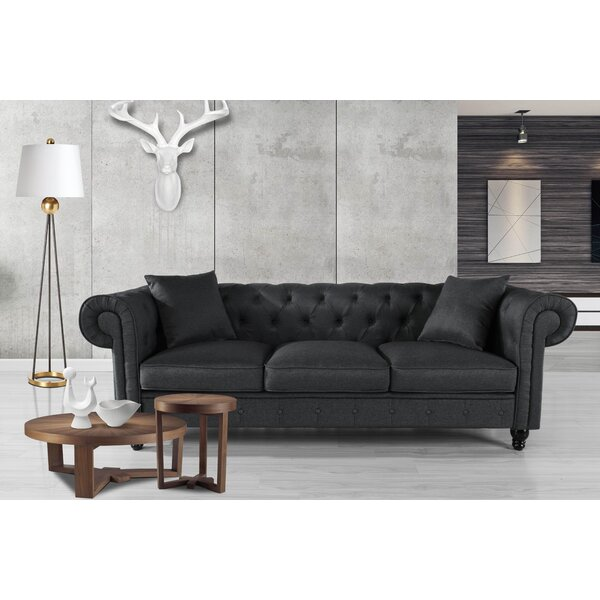 New Chic Logue Chesterfield Sofa by Charlton Home by Charlton Home