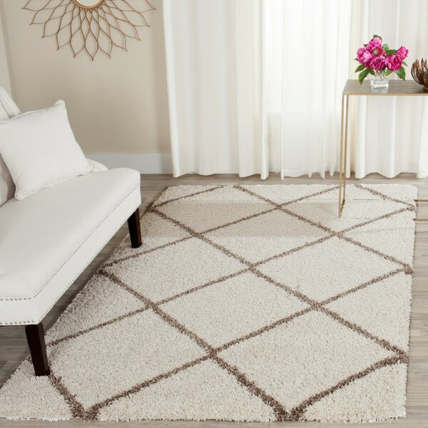 Elizabeth Street Ivory/Brown Area Rug by Wrought Studio