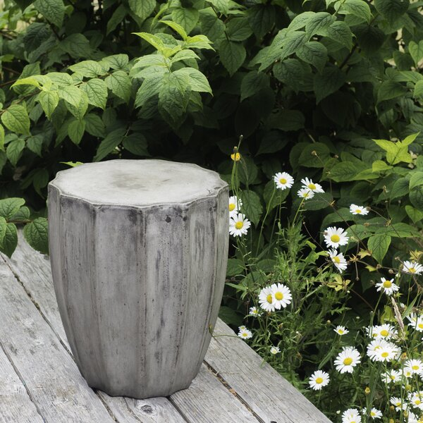 Breeze Stone/Concrete Side Table by My Spirit Garden