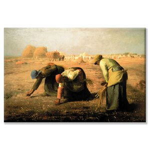 Gleaners by Jean Francois Millet Painting Print on Wrapped Canvas by Buyenlarge