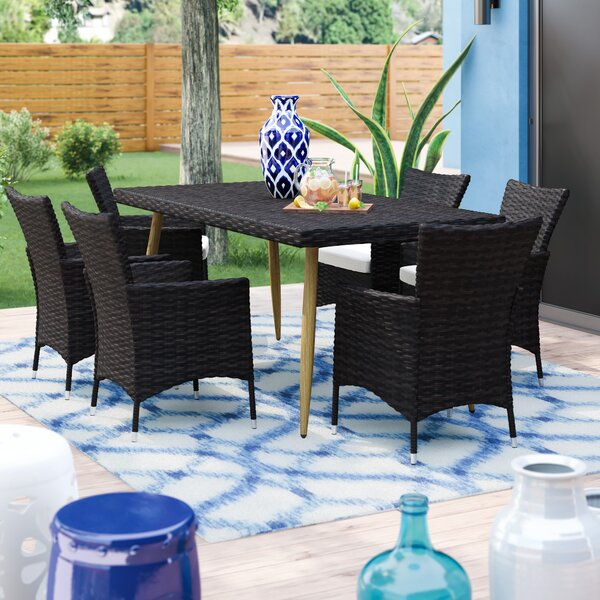 Middletown Outdoor 7 Piece Dining Set with Cushions by George Oliver