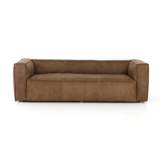 "Steinway Reverse Stitch Sofa - 99"" by Williston Forge SKU:EE242648 Buy"